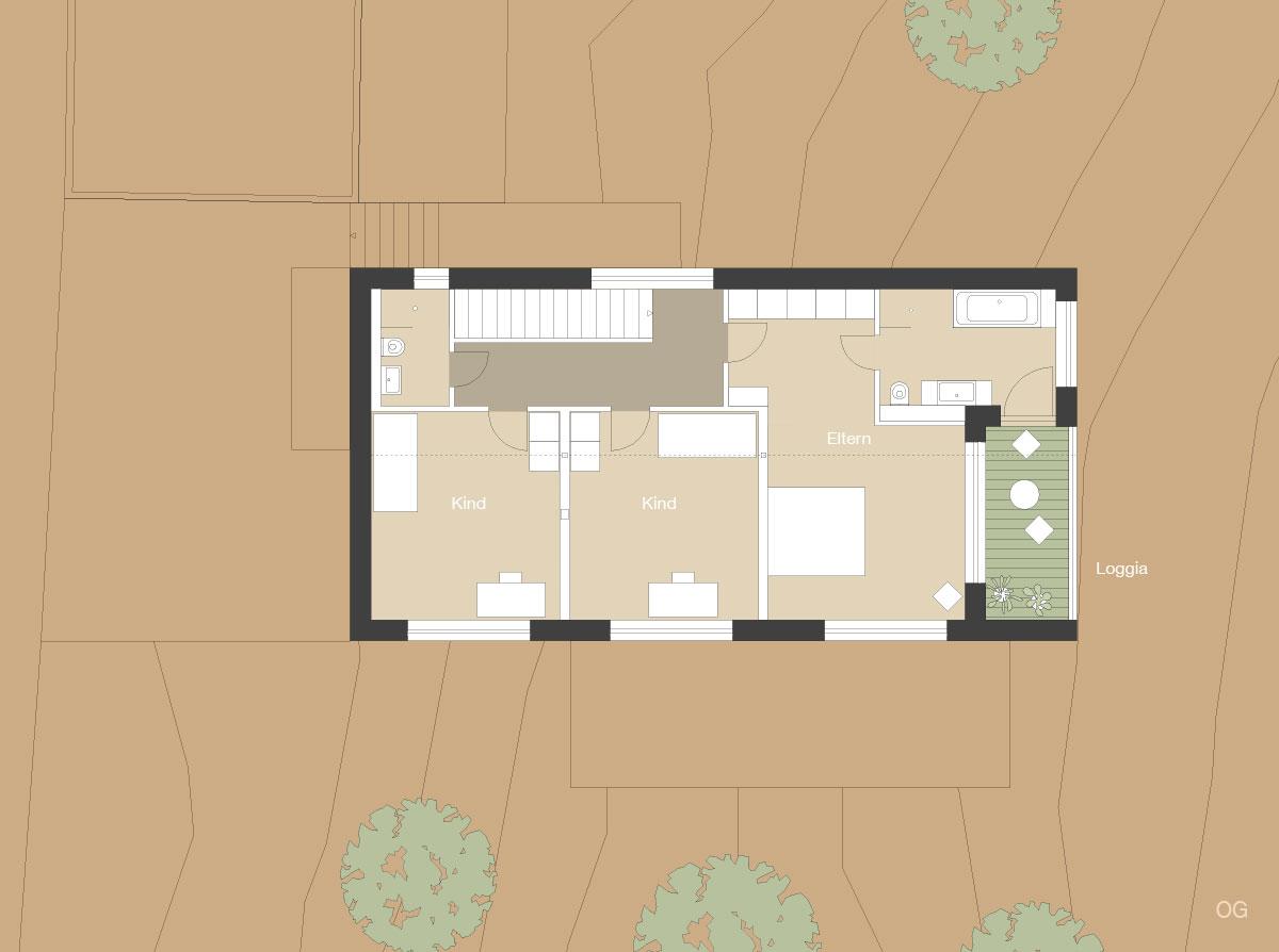 4architekten architekturb ro m nchen neubau for Grundriss neubau einfamilienhaus