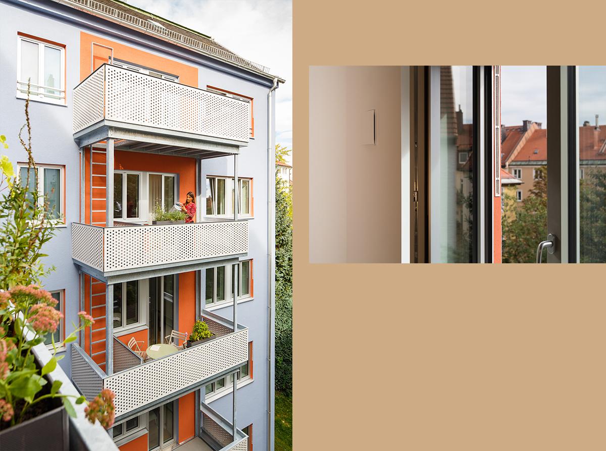 4architekten architekturb ro m nchen sanierung for Mietshaus bauen