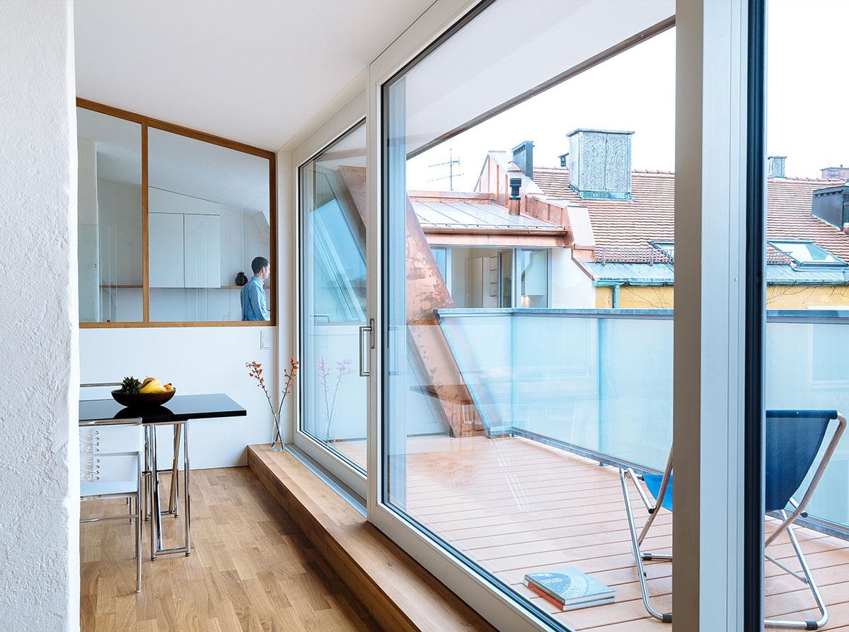 4architekten architekturb ro m nchen wohnen im neuen mansardendach dachausbau m nchen. Black Bedroom Furniture Sets. Home Design Ideas